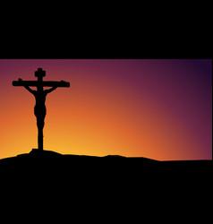 Jesus christ son god holy easter vector