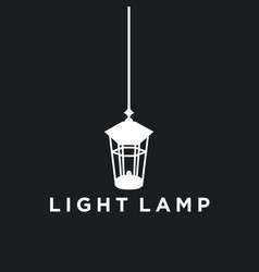 lamp idea logo background vector image