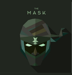 mask villain into flat style graphics art vector image