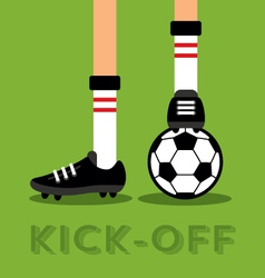 Match kick off vector