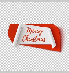 merry christmas abstract red and white banner vector image