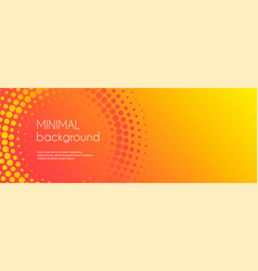 minimal abstract banner template for social media vector image
