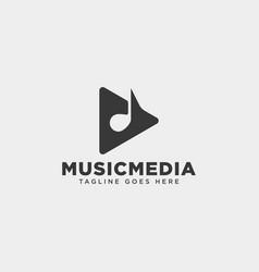 Music clip cinema media entertainment simple logo vector