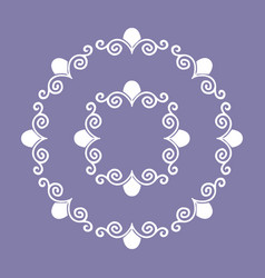 oriental style circle frame with simple decoration vector image