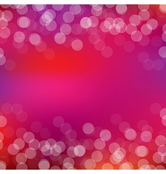 Pink Card With Bokeh vector image