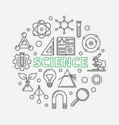 science modern round in thin vector image