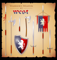 Set meele weapon to fantasy style vector