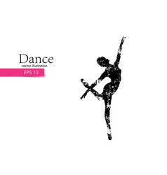 silhouette of a dancing girl dancer woman vector image