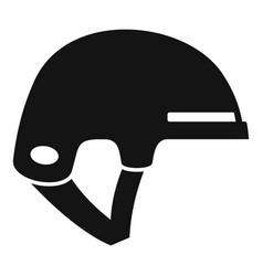Ski helmet icon simple style vector