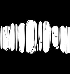 slime sticky black banner spittle snot frame of vector image