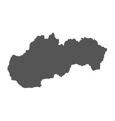 slovakia map black icon on white background vector image