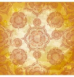 spring retro seamless floral vector image