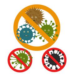 Stop microbe microscopic viruses vector