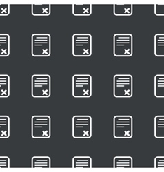 Straight black declined document pattern vector