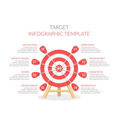 target with eight arrows vector image