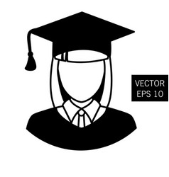 Teacher graduation icon tutor icon vector
