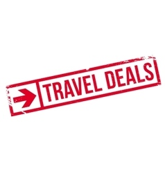 Travel Deals rubber stamp vector
