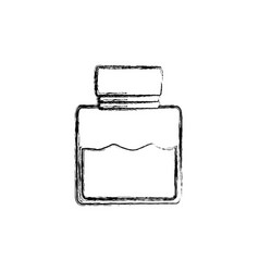 Uncoloredglass canning jar vector