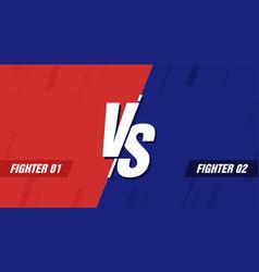 versus screen vs battle headline conflict duel vector image