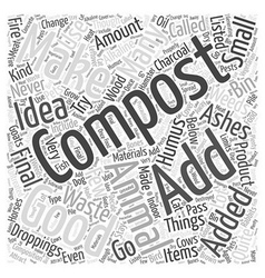 What not to Compost Word Cloud Concept vector image