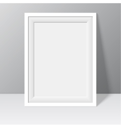 white frame for paintings or photographs vector image