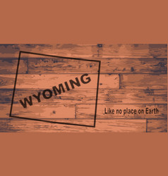 Wyoming map brand vector