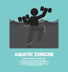Black Symbol Aquatic Exercise vector image
