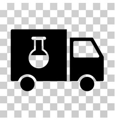 chemical delivery truck icon vector image vector image