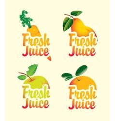 fresh set vector image