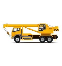 mobile crane high detailed vector image vector image