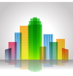 Urban City Color vector image