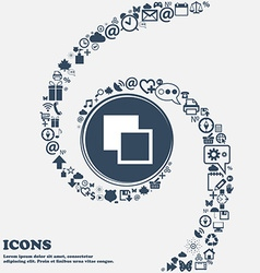 Active color toolbar icon sign in the center vector