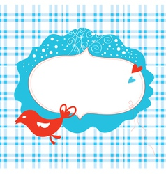 Christmas card with frame vector image vector image
