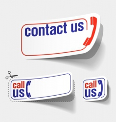 contact labels vector image vector image