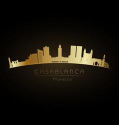 golden logo casablanca vector image