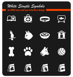 goods for pets icon set vector image vector image