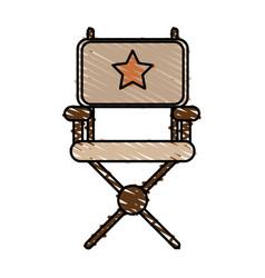 Isolated director chair design Royalty Free Vector Image