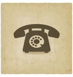 Retro phone old background vector