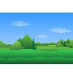 Seamless background summer landscape vector image vector image