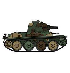 vintage light tank vector image