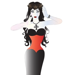 Beautiful goth woman vector image vector image