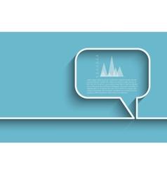 bubble speech template vector image