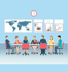 business meeting conceptual vector image vector image