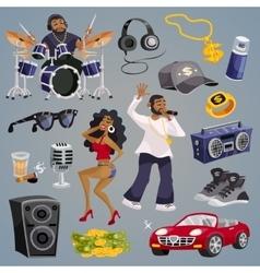 Rap Music Elements vector image