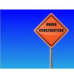 roadsign under construction sky background vector vector image