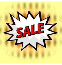 Sale label in pop art style vector image