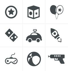 toy icons mono symbols vector image vector image