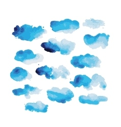 Watercolor clouds for your design vector