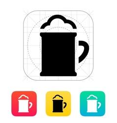 Beer mug with foam icon vector image