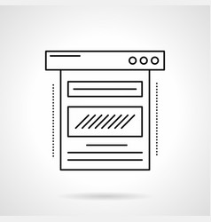 Blog web page flat line icon vector
